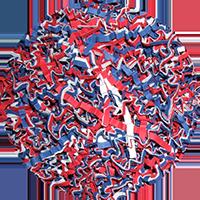 Deko Füllmaterial Frankreich Farben für Verpackung und Geschenke 2 kg
