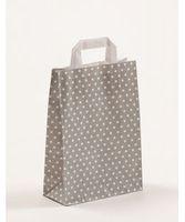 Papiertragetaschen Punkte Grau 22 x 10 x 31 cm VE 250 Stück – Bild 1