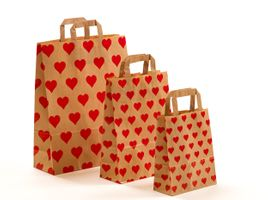 Papiertragetaschen Herzen 18+8x22 cm VE 250 Stück – Bild 3
