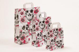 """Papiertragetaschen """"Skulls & Flowers"""" 32x12x40cm VE 250 Stück – Bild 2"""