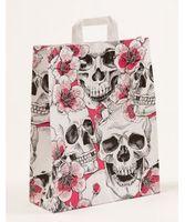 """Papiertragetaschen """"Skulls & Flowers"""" 32x12x40cm VE 250 Stück – Bild 1"""