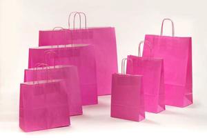 Geschenktasche Papiertragetaschen Pink 23 x 10 x 32 cm VE 250 Stück – Bild 2