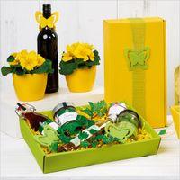 Weinverpackung Präsentkarton Modern Welle Gelb für 2 Flaschen 25 Stück – Bild 2