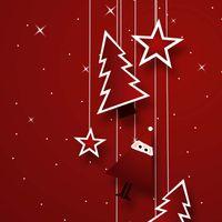 Geschenkkarton Weihnachten Santa Bordeaux 2er Präsentkarton VE 25 Stck – Bild 3