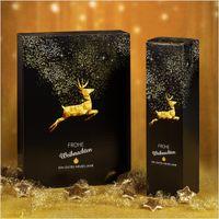 Flaschenverpackung Weihnachten Goldhirsch für 2 Flaschen VE 25 Stück – Bild 2