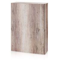 Flaschenverpackung Präsentkartons Wood Holzoptik f. 3 Flaschen 25 Stck – Bild 1