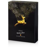 Flaschenverpackung Weihnachten Goldhirsch für 3 Flaschen VE 25 Stück – Bild 1