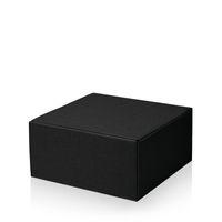 Geschenkkarton Schwarz Allround -M- offene Welle VE 25 Stück – Bild 1