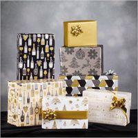 Geschenkpapier Secare Rolle Christmas Creme/Silber/Gold 50 cm x 100 m – Bild 2