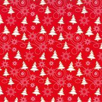 Geschenkpapier Weihnachten Secare Rolle Winter Rot/Weiß 50cm x 100m