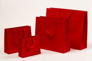 Exclusive Geschenktaschen rot 42 x 13 x 37 + 6 cm VE 100 Stück – Bild 2