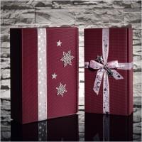 Geschenkband Organzaband Sterne Silber 40 mm x 20 m – Bild 2