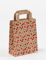 Papiertragetaschen Cherry Kirschen 18 + 8 x 22 cm VE 250 Stück – Bild 1