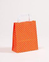 Papiertragetaschen Punkte Orange 18 +8 x 22 cm VE 250 Stück – Bild 1