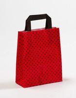 Papiertragetaschen Punkte Rot/Schwarz 18 x 8 x 22 cm VE 250 Stück – Bild 1