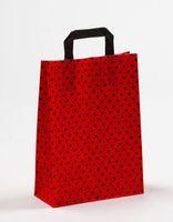 Papiertragetaschen Punkte Rot/Schwarz 22 x 10 x 31 cm VE 250 Stück – Bild 1