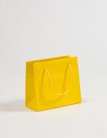 Exclusive Geschenktaschen Gelb 23 x 10 x 20 + 5 cm VE 100 Stück – Bild 1