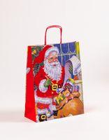 Geschenktasche Tragetaschen Weihnachtsmann 24 x 10 x 31cm  250 Stück – Bild 1