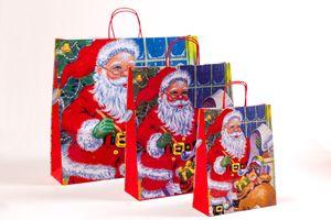 Große Papiertaschen Weihnachten Weihnachtsmann 54 x 15 x 49 cm 150 Stück – Bild 2
