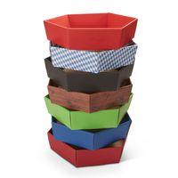 Geschenkkorb leer Holz Design Präsentkorb sechseckig klein 25 Stück – Bild 3