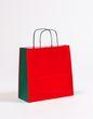 Geschenktasche Papiertragetaschen Rot/Grün 27 x 11 x 26 cm 250 Stück