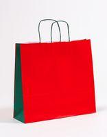 Geschenktasche Papiertragetaschen Rot/Grün 40 x 12 x 36 cm 200 Stück – Bild 1