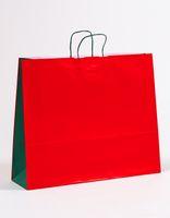 XXL Große Papiertragetaschen Rot/Grün 54 x 15 x 44 cm VE 150 Stück – Bild 1
