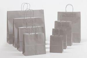 Geschenktasche Papiertragetaschen Grau 23x10x32cm VE 250 Stück – Bild 2