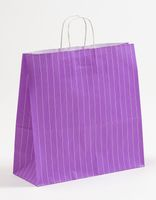 Geschenktasche Papiertragetasche Nadelstreifen Lila 35x14x35cm 250 Stück – Bild 1