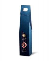 Weinverpackung Tragekarton Struktura Vita dunkelblau für 1 F.,50 Stück