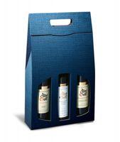 Weinverpackung Struktura Vita Dunkelblau für 3 Flaschen, 50 Stück