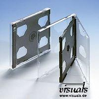 CD-Doppelhüllen Tray schwarz VE: 50