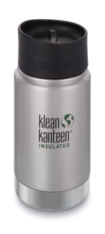 Klean Kanteen 355 ml Wide Insulated Trinkflasche mit Café Cap 2.0