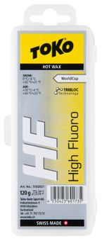 Toko High Fluro Wax Skiwachs gelb 120 g