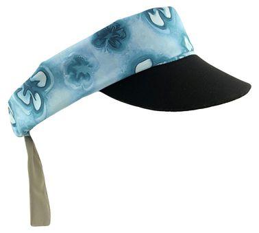 Chaskee Visor Snap Cap Hibiscus mit Neoprenschild (als Stirnband oder Mütze nutzbar, mit Nackenschutz, UV Schutz 60)