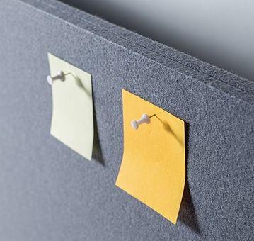 StandXT schallabsorbierende Trennwand APX01-6 für Schreibtische 150 cm x 60 cm – Bild 3