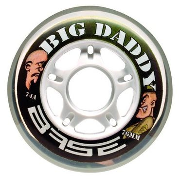 Base Big Daddy Indoor Inline Rollen  - 74A (4er Pack)