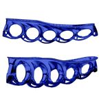 T-Blade Holder Metallic (1Pair) Side View Blue