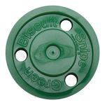 Green Biscuit Snipe Roller Hockey Puck Front View