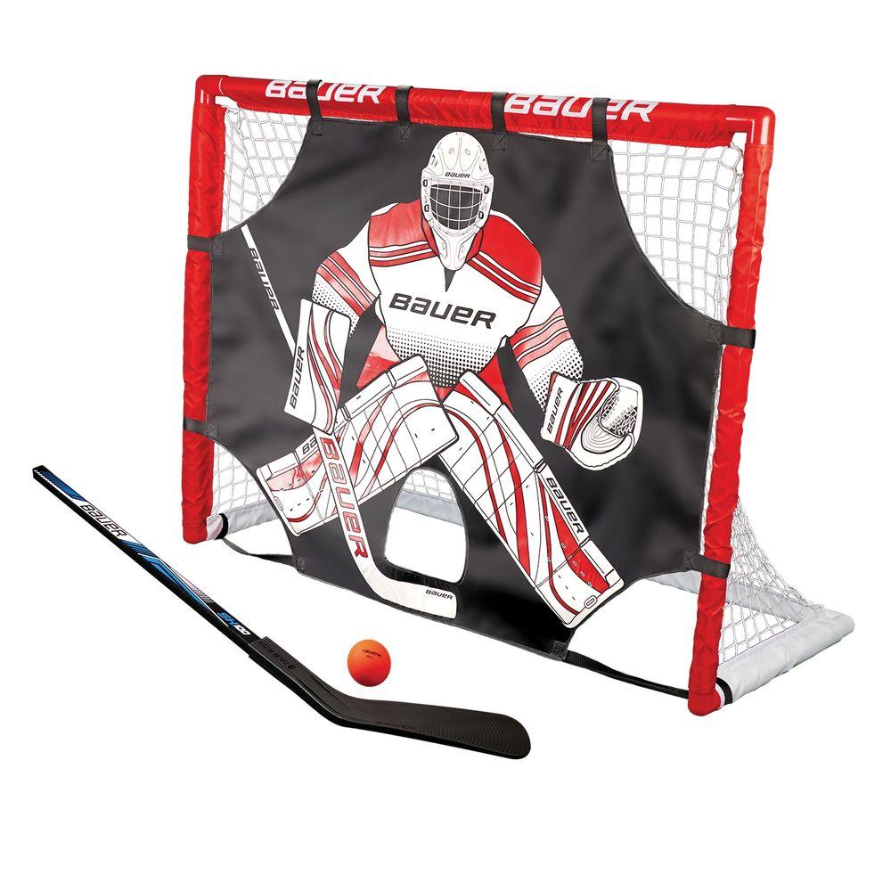 """Bauer Street Hockey Tor Set 48"""" incl. Shooter, Schläger & Ball"""