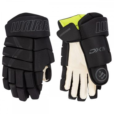 Guantes de hockey Warrior Alpha DX SE Lite Senior - negro / gris