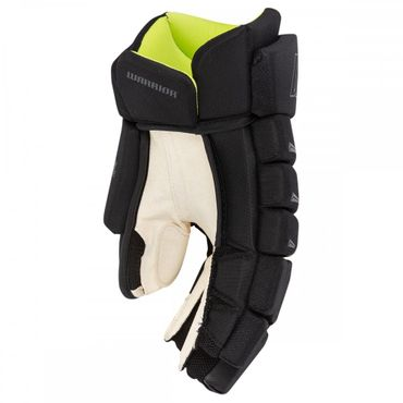 Guantes de hockey Warrior Alpha DX SE Lite Junior - negro / amarillo