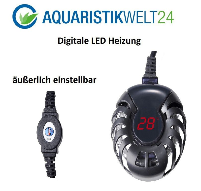 50 Watt digitale Aquarium Heizung - bis 100l Aquarien