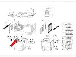 """Ersatzteil """"Auslass O-Ring"""" PART 12 - Kammerfilters CBF-350 Bild 1"""