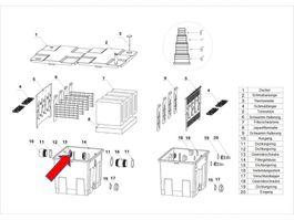 """Ersatzteil """"Überwurfmutter"""" PART 13 des Kammerfilters CBF-350 Bild 1"""