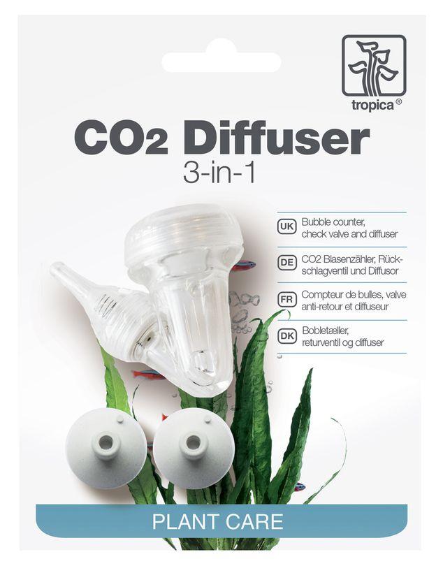 Tropica Aquarium CO2 Diffuser 3in1 System incl. Blasenzähler & Rückschlagventil