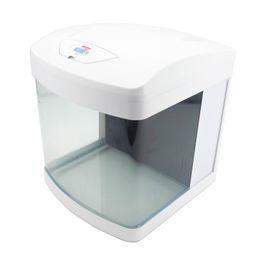 Nano Aquarium XCUBE in weiß inklusive Dekoration Bild 3
