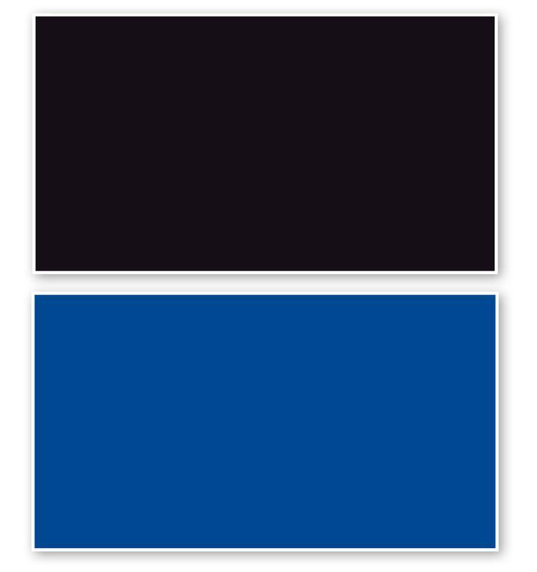 Fotorückwand Schwarz/Blau beidseitig 120x60cm 2in1 Rückwandposter