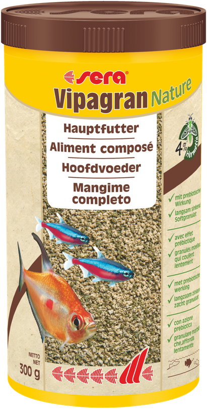 Sera Vipagran Nature 1000ml Granulatfutter Zierfische Aquarium Hauptfutter