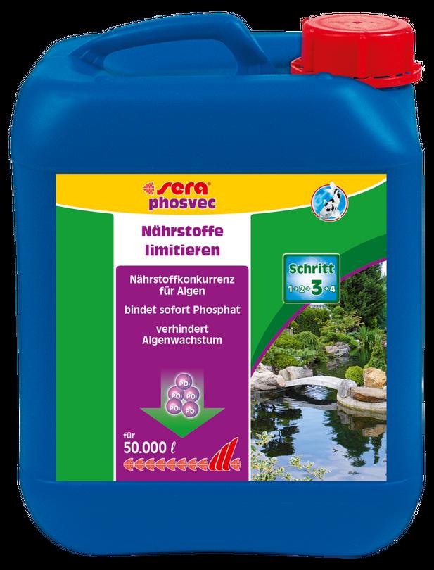 Sera pond phosvec 5 Liter Algenvernichter Gartenteich Pflegen